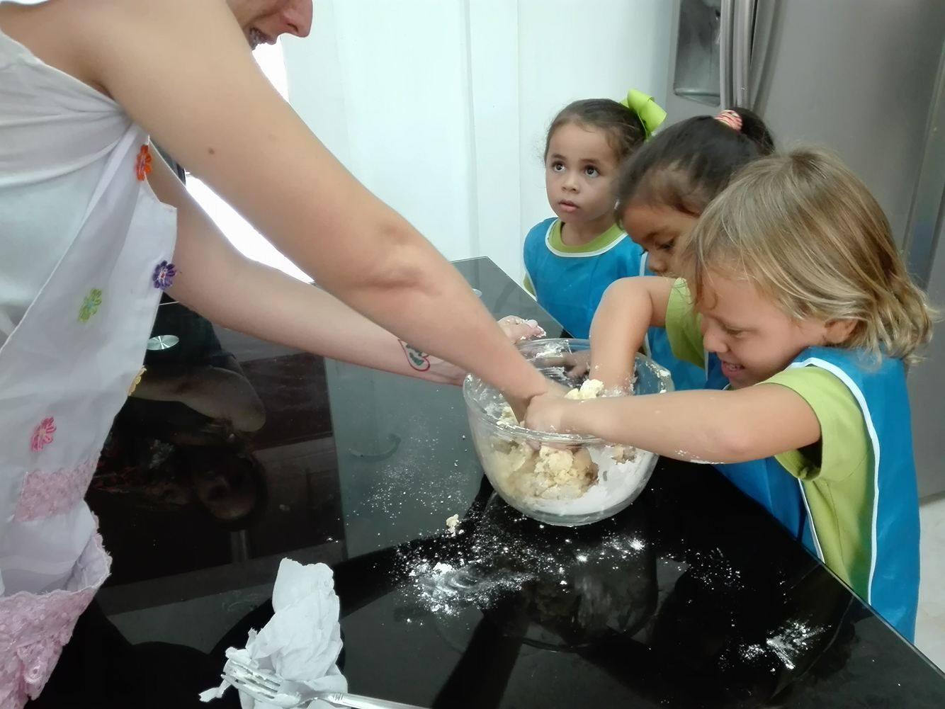 making some empanadas